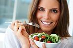 Eating healthy, feeling light