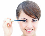 Makeup - Woman applying mascara to her eyelash