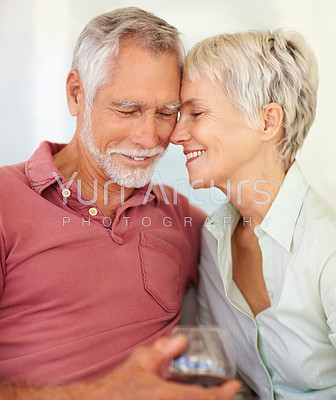 Celebration: Happy couple enjoying their retirement