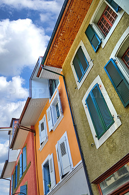 Buy stock photo Editorial: Annecy, France, July, 17, 2019: Houses and street life in the famous medieval part of the city of Annecy, Department of Upper Savoy, France.